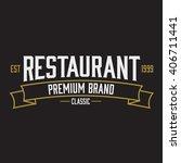 vintage classic minimal logo.... | Shutterstock .eps vector #406711441