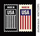 made in the usa ticket. | Shutterstock .eps vector #406711591