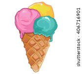 ice cream.sweet dessert  ... | Shutterstock .eps vector #406716901