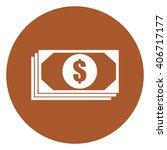 brown circle dollar money...
