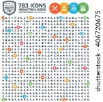 783 icons industry construction ... | Shutterstock .eps vector #406720675