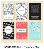 set of 6 cards. abstract card...