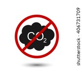 co2 icon simple. co2 icon logo. ... | Shutterstock .eps vector #406731709