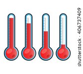 set of thermometers icons.... | Shutterstock .eps vector #406737409