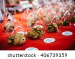 Small photo of White truffles on sale at truffle fair in Alba, Italy.