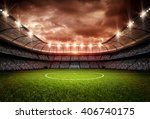 stadium 3d rendering  the... | Shutterstock . vector #406740175