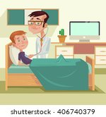 doctor with patient. vector... | Shutterstock .eps vector #406740379