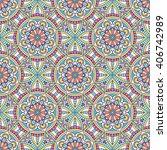 seamless pattern. vintage... | Shutterstock .eps vector #406742989
