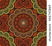 seamless pattern. vintage... | Shutterstock .eps vector #406745869