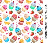 seamless pattern with... | Shutterstock . vector #406753615