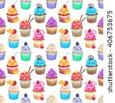 seamless pattern with... | Shutterstock . vector #406753675