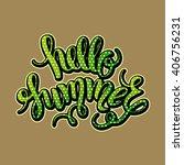 brush lettering composition.... | Shutterstock .eps vector #406756231