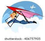 vector illustration of a girl...   Shutterstock .eps vector #406757935