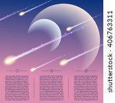 futuristic meteor shower... | Shutterstock .eps vector #406763311