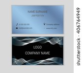abstract business card design... | Shutterstock .eps vector #406764949
