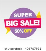 super sale banner  big sale... | Shutterstock .eps vector #406767931