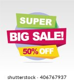 super sale banner  big sale... | Shutterstock .eps vector #406767937