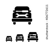 car workshop icon | Shutterstock .eps vector #406772611