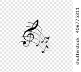 Music Notes Icon. Simple Black...