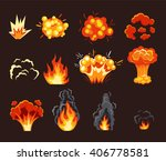 explosion animation effect.... | Shutterstock .eps vector #406778581