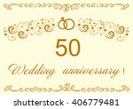50th wedding anniversary... | Shutterstock .eps vector #406779481