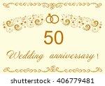 50th wedding anniversary... | Shutterstock .eps vector #406779481