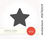 flat five pointed star icon.... | Shutterstock .eps vector #406782619