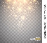 magic light vector effect. glow ... | Shutterstock .eps vector #406790755