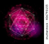 sacred geometry abstract vector ... | Shutterstock .eps vector #406793155