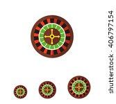 casino roulette icon | Shutterstock .eps vector #406797154