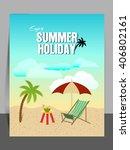 vector flyer or illustration... | Shutterstock .eps vector #406802161