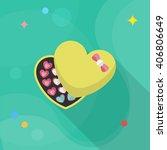 valentine's day chocolate icon  ... | Shutterstock .eps vector #406806649