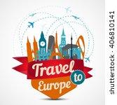 europe skyline detailed...   Shutterstock .eps vector #406810141