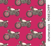 classic motorcycle. seamless...   Shutterstock .eps vector #406812499