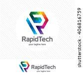 letter r logo design vector.... | Shutterstock .eps vector #406816759