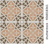 vintage ceramic mosaic floor...   Shutterstock .eps vector #406818361