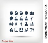 business man icons | Shutterstock .eps vector #406820215