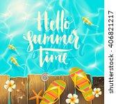 Hello Summer Time   Handwritte...