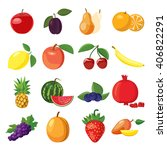 fruits set | Shutterstock .eps vector #406822291