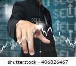 man press sell point | Shutterstock . vector #406826467