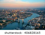 london rooftop view panorama at ... | Shutterstock . vector #406828165