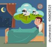 Sleepless Man Counting Sheep....