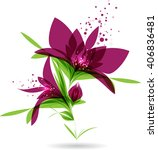 floral design  purple flower on ... | Shutterstock .eps vector #406836481