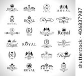 royal icons set isolated on... | Shutterstock .eps vector #406837987
