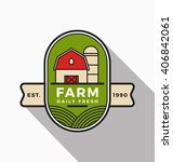 farm and agriculture logo... | Shutterstock .eps vector #406842061
