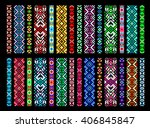 textile ribbons  braids in the... | Shutterstock .eps vector #406845847