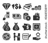 asset  estate  money icon set | Shutterstock .eps vector #406850899