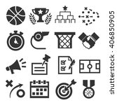 basketball icon set | Shutterstock .eps vector #406850905