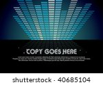 blue digital music background... | Shutterstock .eps vector #40685104