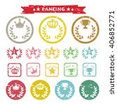 set of ranking stamp icons  ... | Shutterstock .eps vector #406852771